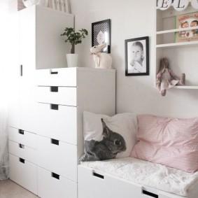 Детская мебель с выдвижными ящиками