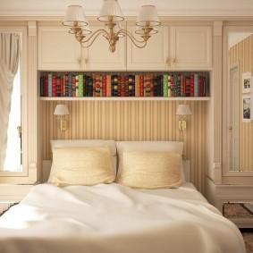 Встроенная мебель в спальне небольшой площади