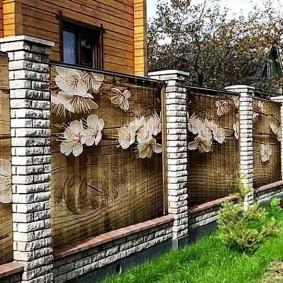 3D роспись забора из профильного листа