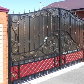 Кованные ворота промышленного производства