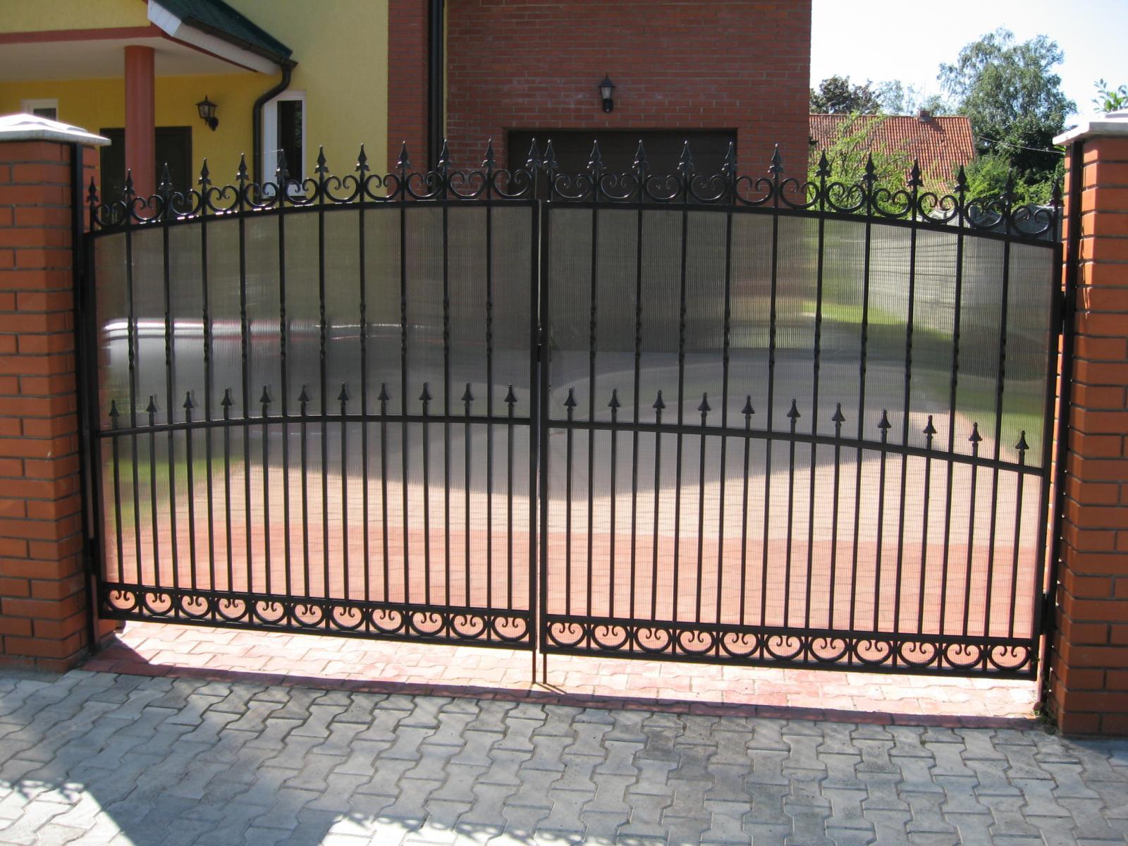 шестая забор кованый с поликарбонатом фото можно свежую