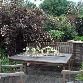 Садовая мебель из натурального дерева