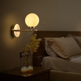 Ночная подсветка в интерьере спальни