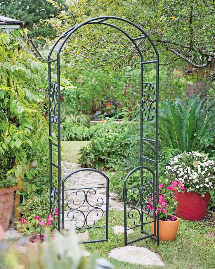 фото металлических арок для вьющихся цвету
