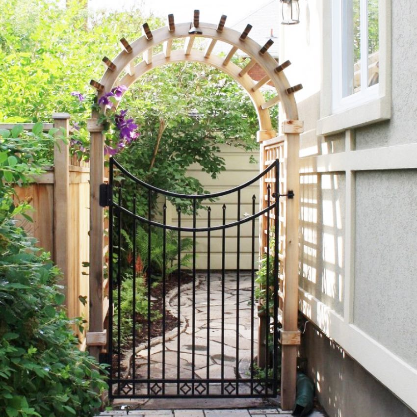 распространёнными арки для ворот частных домов фото него