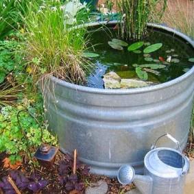 Мини-водоем из оцинкованной емкости