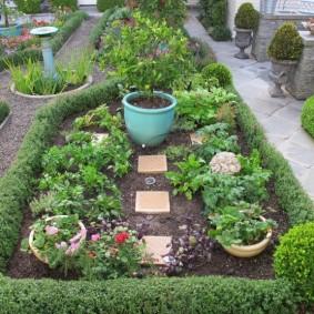 Компактный огород на участке в классическом стиле