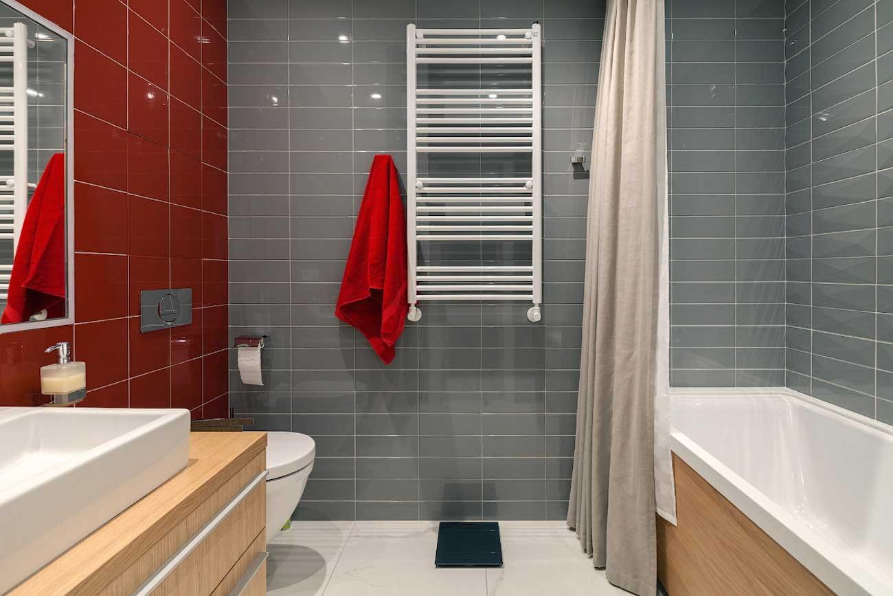 фото серой ванной