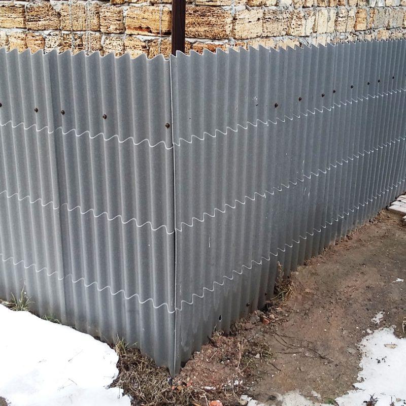 забор из шифера волнового фото для