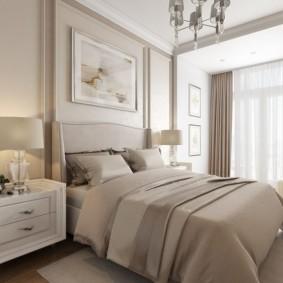 Небольшая спальня в неоклассическом стиле