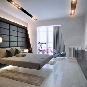 Современная спальня в стиле хай-тек