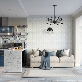 Кухонный полуостров как элемент зонирования комнаты