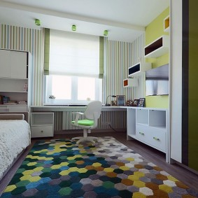 Дизайн комнаты школьника в пастельных тонах
