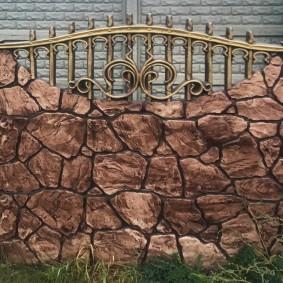 Имитация ковки на железобетонном заборе