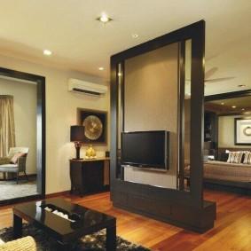 Стойка-перегородка для телевизора в квартире