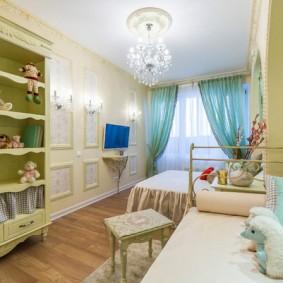 Зонирование детской комнаты на спальню