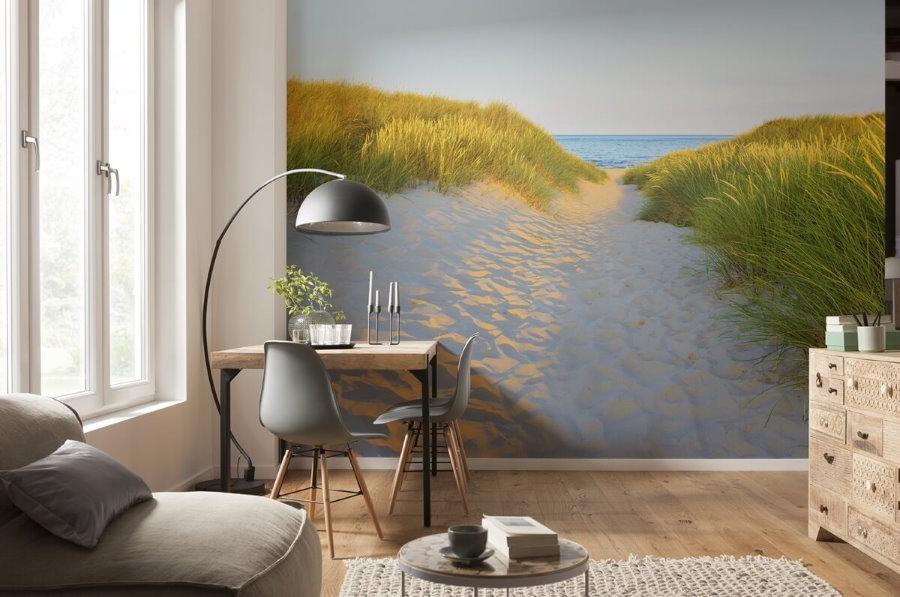 Фотообои с 3d эффектом в небольшой гостиной