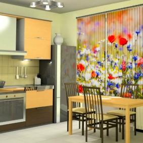 фотошторы для кухни декор фото