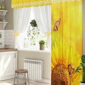 фотошторы для кухни фото декор