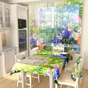 фотошторы для кухни идеи декора