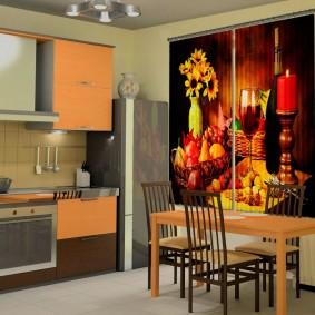 фотошторы для кухни идеи оформления