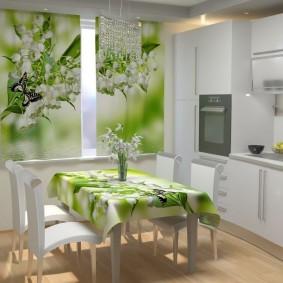 фотошторы для кухни виды фото