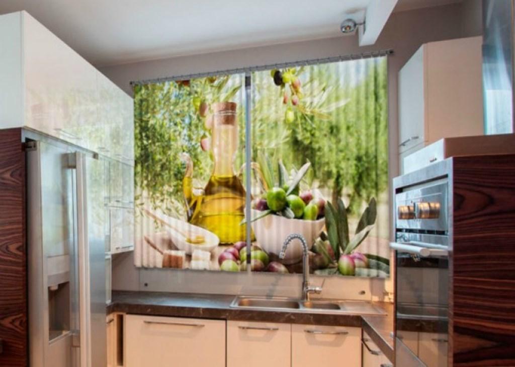 фотошторы для кухни дизайн