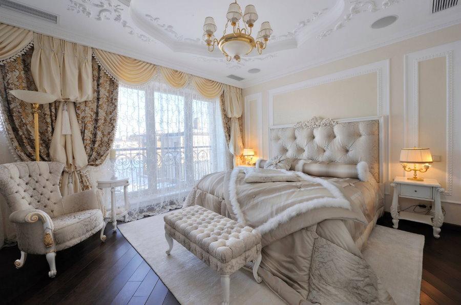 Дизайн гостевой комнаты в стиле ампир