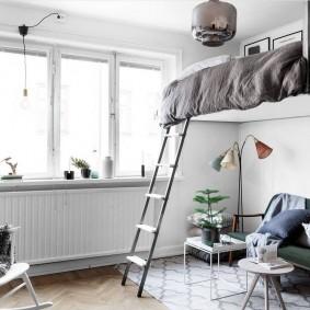 гостиная и спальня в одной комнате идеи дизайна