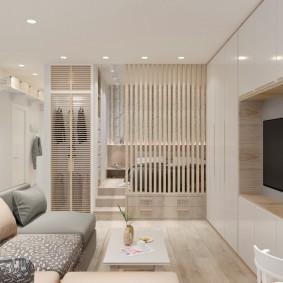 гостиная и спальня в одной комнате идеи декор
