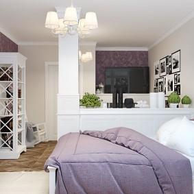 гостиная и спальня в одной комнате идеи декора