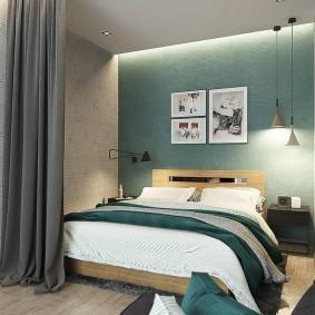 гостиная и спальня в одной комнате интерьер