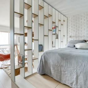гостиная и спальня в одной комнате фото интерьер