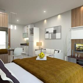гостиная и спальня в одной комнате идеи оформление