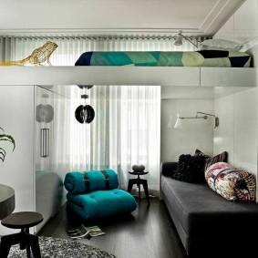 гостиная и спальня в одной комнате варианты фото