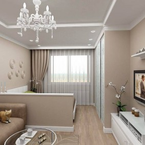 гостиная и спальня в одной комнате фото варианты