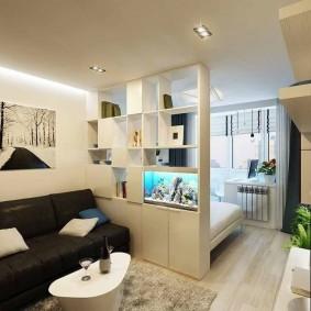 гостиная и спальня в одной комнате виды дизайна