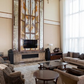 гостиная в стиле модерн оформление фото