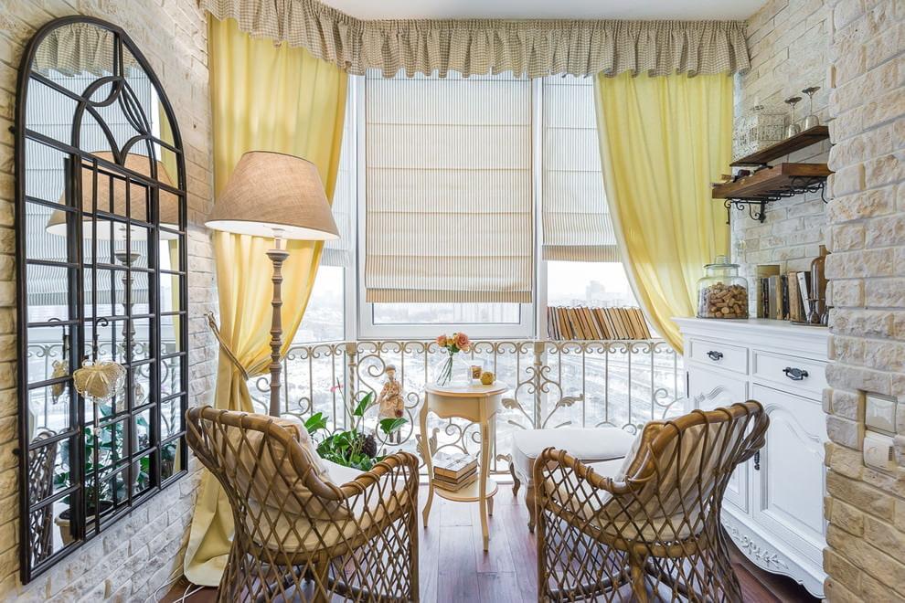 интерьер в стиле прованс на балконе