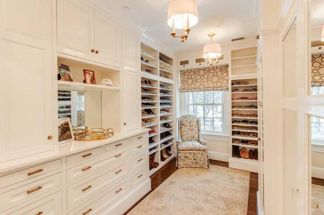 интерьер в стиле прованс в гардеробной