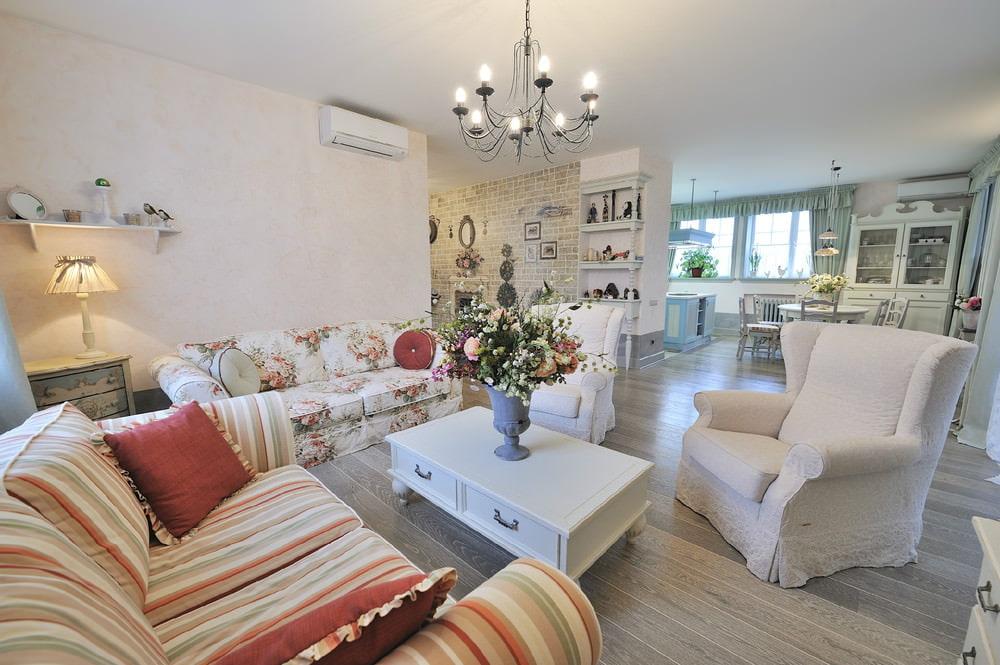 интерьер в стиле прованс в гостиной