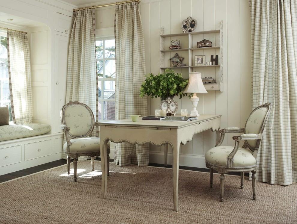интерьер в стиле прованс в кабинете
