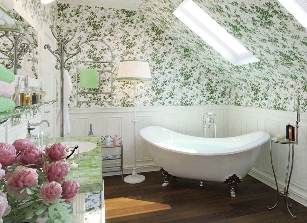интерьер в стиле прованс в ванной