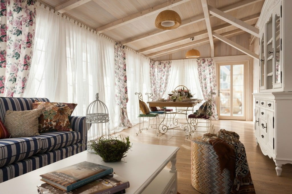 интерьер в стиле прованс в загородном доме