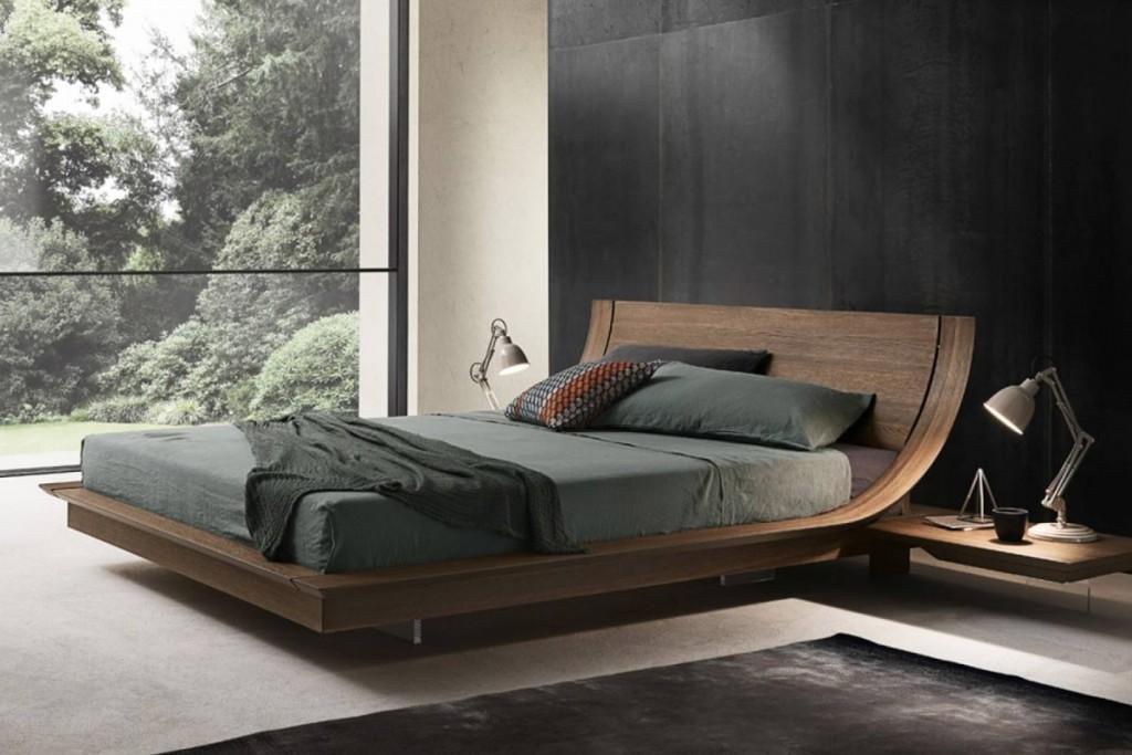 Кровать итальянского производства с оригинальным дизайном