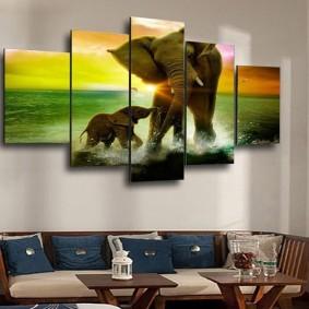 как украсить стену варианты фото