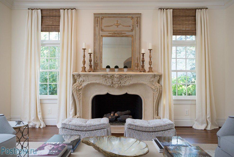 Декоративный камин в классическом стиле