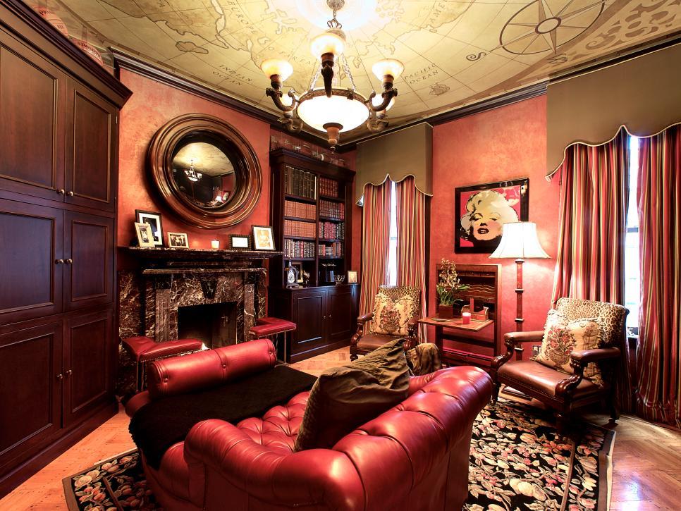 Рабочий кабинет для молодого человека в стиле классика