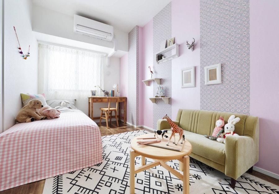 Подбор обоев для отделки детской комнаты 14 кв. м.