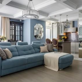 комната с диваном идеи декора